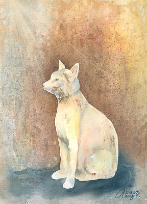 Felines Painting - Egyptian Cat by Arline Wagner