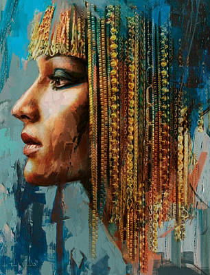 African Dancers Painting - Egyptian Culture 1 by Mahnoor Shah