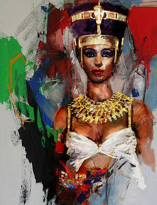 Giza Painting - Egyptian Culture 10 by Mahnoor Shah