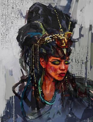 Egyptian Culture 26b Art Print by Maryam Mughal
