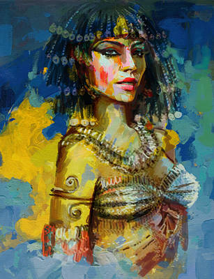 African Dancers Painting - Egyptian Culture 2b by Maryam Mughal