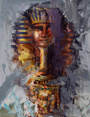 Egyptian Culture 37b Print by Maryam Mughal