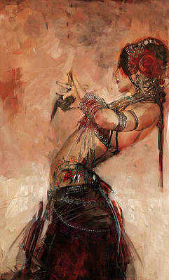 African Dancers Painting - Egyptian Culture 40 by Mahnoor Shah