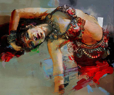 African Dancers Painting - Egyptian Culture 84c by Mahnoor Shah