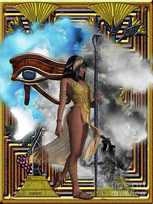 Horus Digital Art - Egyptian Echoes Of Time by Corey Ford
