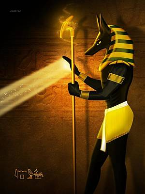 Digital Art - Egyptian God Anubis by John Wills