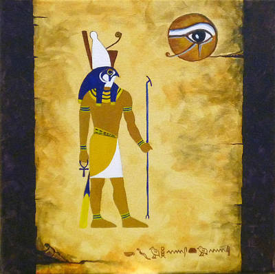 Horus Painting - Egyptian God Horus by Craig Johnstone