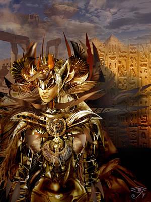Warrior Goddess Digital Art - Egyptian Goddess by Fabrizio Uffreduzzi