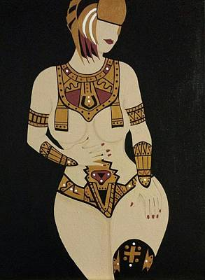 Egyptian Goddess Painting - Egyptian Goddess by Ida Robles