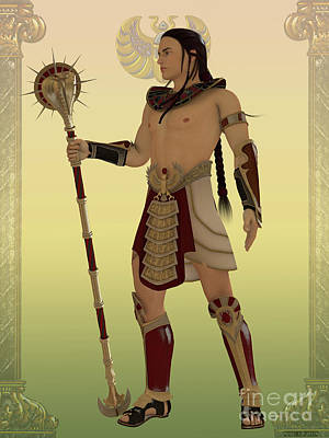 Egyptian Guard Art Print by Corey Ford