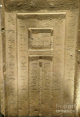 Photograph - Egyptian Hieroglyphics by Patricia Hofmeester