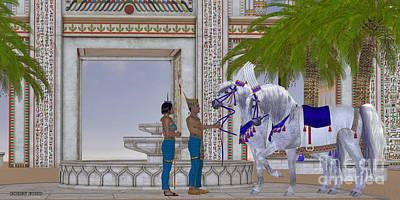 Egyptian Horses Art Print by Corey Ford