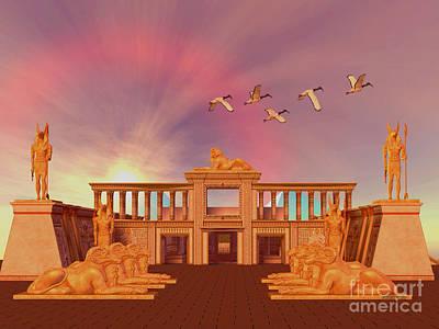 Horus Digital Art - Egyptian Kingdom by Corey Ford