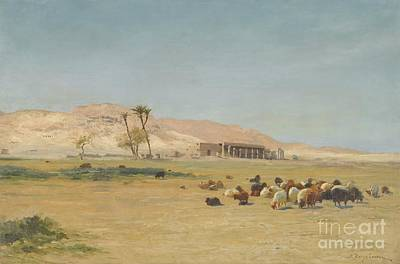Joseph Farquharson Wall Art - Painting - Egyptian Landscape by Celestial Images
