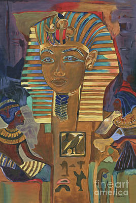 Sphinx Painting - Egyptian Man by Debbie DeWitt