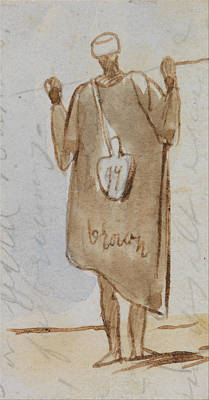 Ceramics Painting - Egyptian Men By Edward Lear, 1867 3 by Adam Asar