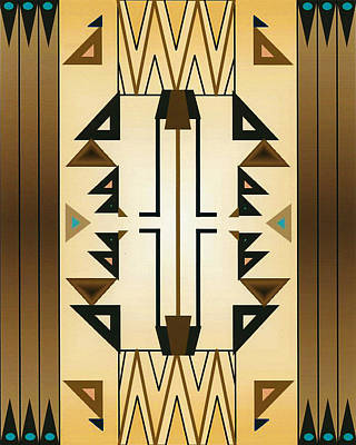 Egyptian Moderne Art Print by Tara Hutton