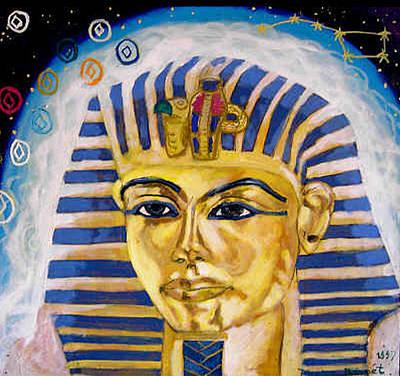Incarnation Painting - Egyptian Mysteries by Morten Bonnet