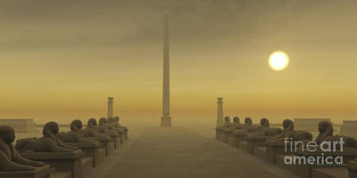 Archeology Painting - Egyptian Obelisk by Corey Ford
