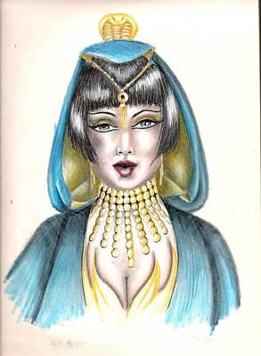 Egyptian Princess Art Print by Scarlett Royal