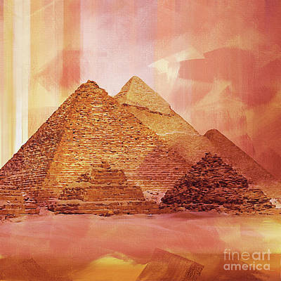 Egypt Painting - Egyptian Pyramids 01 by Gull G