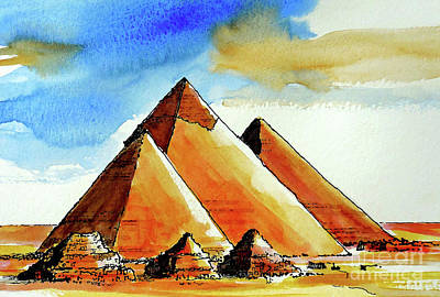Painting - Egyptian Pyramids by Terry Banderas
