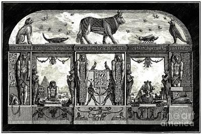 Digital Art - Egyptian Revival Print By Giovanni Piranesi 1769 by Peter Ogden