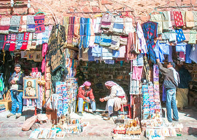 Egyptian Shop Keepers 2 Art Print by Roy Pedersen