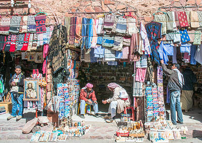 Egyptian Shop Keepers Art Print by Roy Pedersen
