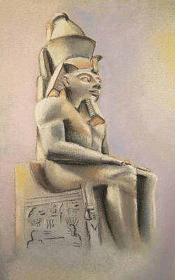 Pastel - Egyptian Study II by Elizabeth Lock