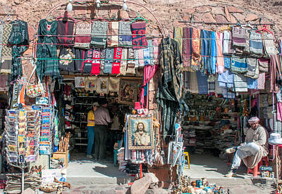 Egyptian Tourist Shops Art Print by Roy Pedersen