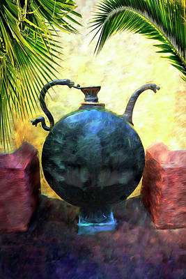 Photograph - Egyptian Vase Series 7852y by Carlos Diaz
