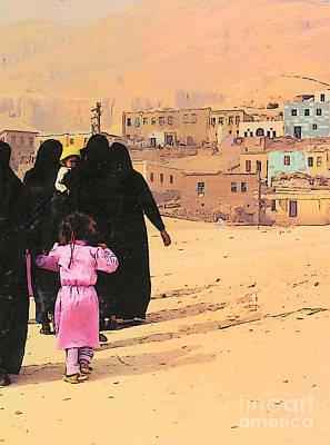 Photograph - Egyptian Women With Children by Lisa Dunn