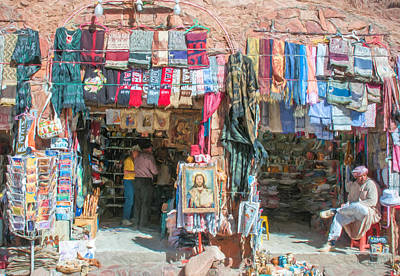 Egyptian Tourist Shops 2 Art Print by Roy Pedersen