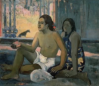 Oceania Painting - Eiaha Ohipa Or Tahitians In A Room by Paul Gauguin