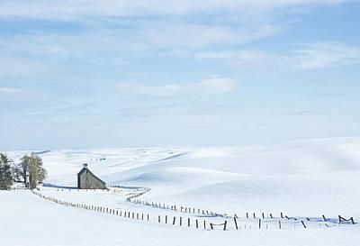 Photograph - Eid Rd Barn Winter I V by Doug Davidson
