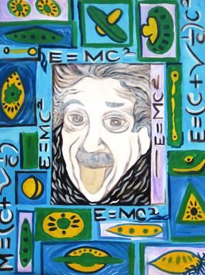 Alfredo Llana Painting - Eienstein by Alfredo  Dane Llana