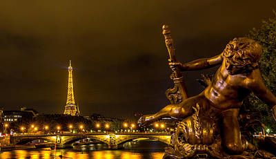Photograph - Eifel Tower From Alexander Bridge by Lev Kaytsner