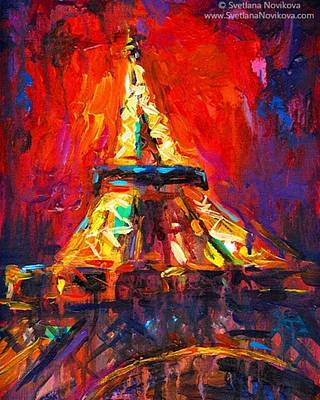 Eifell Tower By Svetlana Novikova ( All Art Print