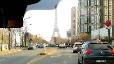 Eifell Tower Photograph - Eifell Tower View From Taxi by Agnes V