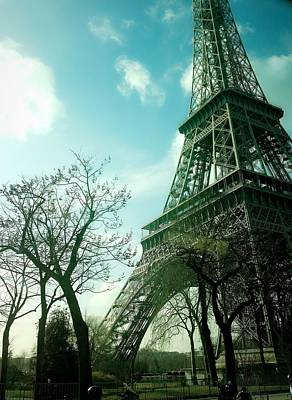 Eifell Tower Photograph - Eifell Tower View From Taxi II. by Agnes V