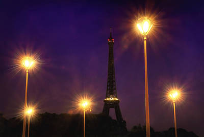 Photograph - Eiffel And The Lamp Posts by Vicki Jauron