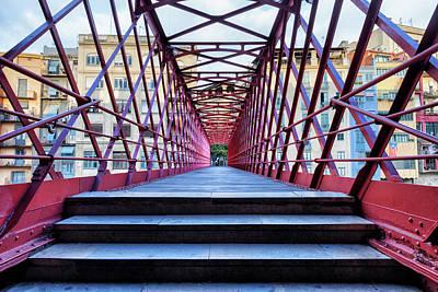 Girona Photograph - Eiffel Bridge In City Of Girona by Artur Bogacki