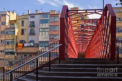 Eiffel Bridge Of Girona Art Print by Anastasy Yarmolovich