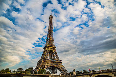 Photograph - Eiffel Clouds by Kim Wilson