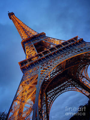 Photograph - Eiffel Dressed In Gold by Kim Andelkovic
