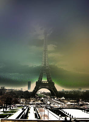 Eiffel Haze Print by Menucha Citron