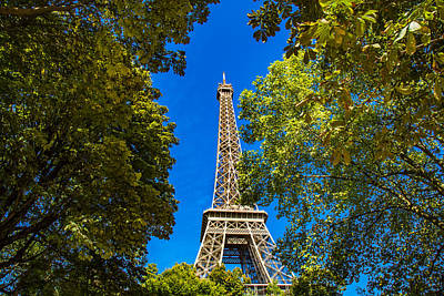 Photograph - Eiffel Hiding by Kim Wilson