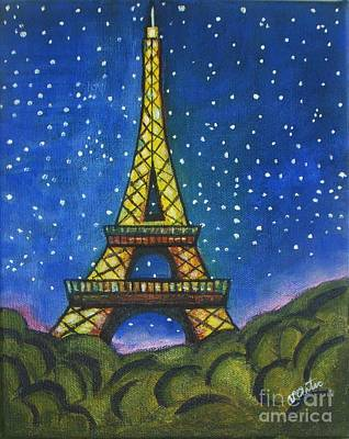 Eiffel In Starry Night Original by Vesna Antic