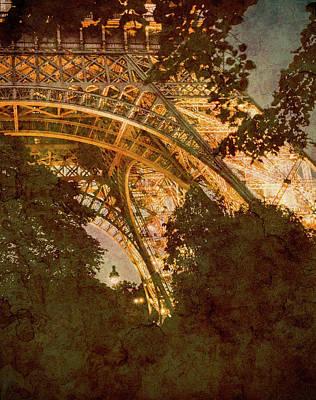 Photograph - Paris, France - Eiffel Oldplate II by Mark Forte